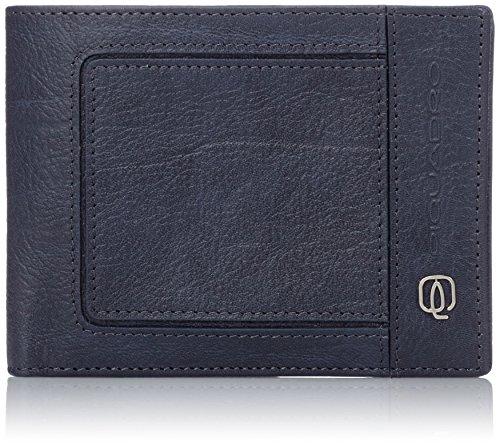 Piquadro PU257VI Portafoglio, Collezione Vibe, Blu/Grigio
