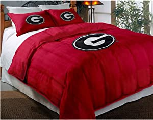 NCAA Georgia Bulldogs Twin Full Sized Comforter with Shams by Northwest