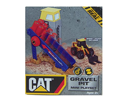 Cat Gravel Pit Mini Playset Ages 3+ Caterpillar Play Set by Best-Lock