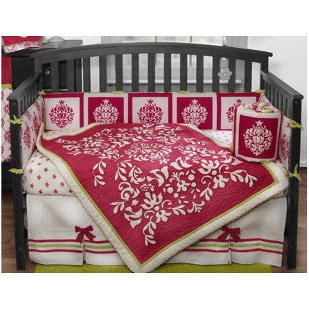 Amazing Bananafish Damask Piece Crib Bedding Set