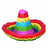 Colorful Sombrero Pinata, 17.5 x 12""