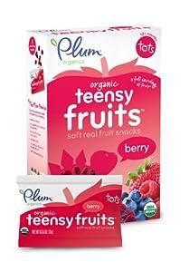Plum Organics Teensy Fruits, Berry, 5 Count (Pack of 8)