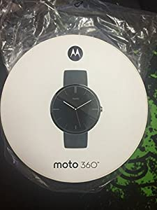 Motorola - Moto 360 Smart Watch for Android Devices 4.3 or Higher (Black)