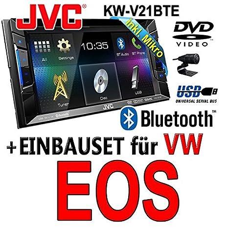 VW eos jVC-kW-v21BTE-cD mP3 uSB autoradio tFT dVD bluetooth