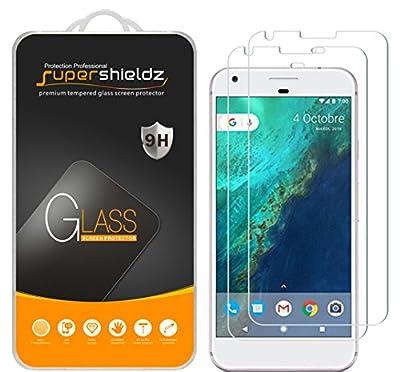 [2-Pack] Google Pixel XL Tempered Glass Screen Protector, Supershieldz Anti-Scratch, Anti-Fingerprint, Bubble Free, Lifetime Replacement Warranty