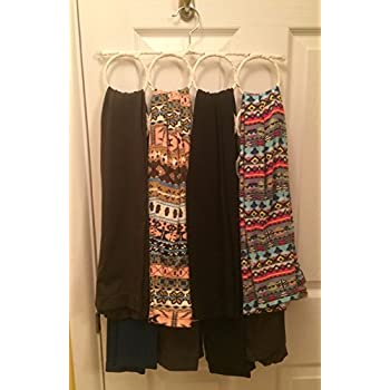 Specialty Styles - Two Pack Scarf Organizer. Space Saver, Snag Free, Hanger for Accessories. Use in Closet, Scarf Hanger on a Wall or Scarf Holder Over the Door. Also Can Be Used As a Tie Rack Holder or for Leggings
