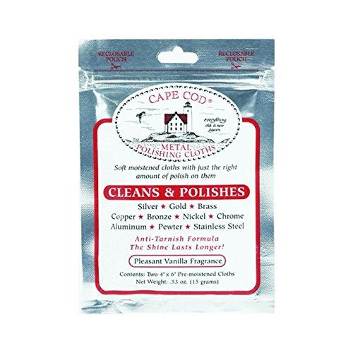 Cape Cod® Metal Polishing Cloths Foil Pouch 0.53oz (Metal Polish Wipes compare prices)