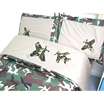 Camouflage Army Boy Twin Kids Childrens Bedding Set 5 pcsDeal Specal !