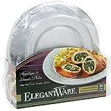 Elegantware Disposable Dinner and Appetizer Plates (50 Plates)