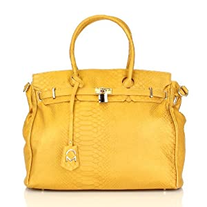 Noble Mount London Office Tote - Snake Mustard
