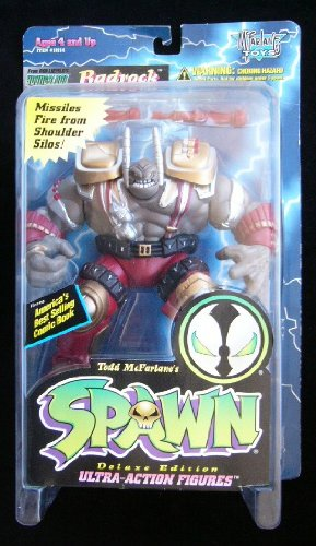 1995 MCFARLANE TOYS SPAWN SERIES 2 REPAINTS RED BADROCK FIGURE