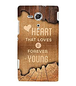Love Forever Quote 3D Hard Polycarbonate Designer Back Case Cover for Sony Xperia SP :: Sony Xperia SP M35h