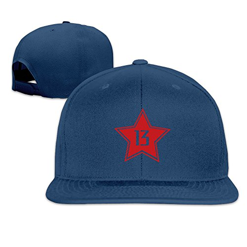 Basketball Houston Player #13 Solid Snapback Baseball Hat Cap One Size Navy
