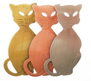Tri Color Three Cats Pin