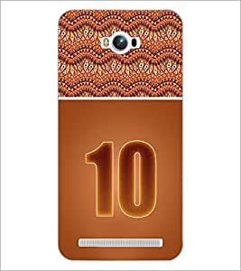 PrintDhaba Numerology Number 10 D-3643 Back Case Cover for ASUS ZENFONE MAX ZC550KL (Multi-Coloured)
