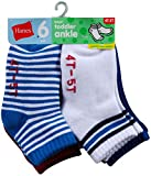 Hanes Toddler Boys Non-Skid Ankle Socks # 27/6 (6 Pairs)