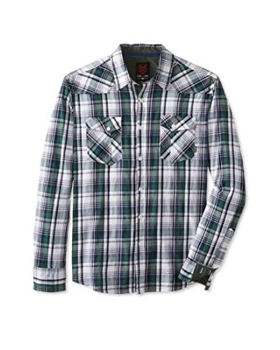 ONE90ONE Men's Barton Double Pocket Plaid Shirt