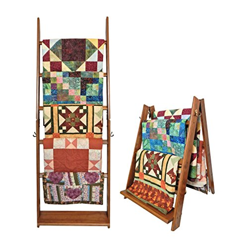 Review The LadderRack 2-in-1 Quilt Display Rack (5 Rung/24 Model/American English)