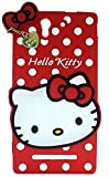 MACC Designer Soft Back Cartoon Cover Case Silicon 3D For Sony Xperia C3 - HKWITHPENDANT-RED