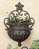 Benzara 21832 Metal Wall Planter
