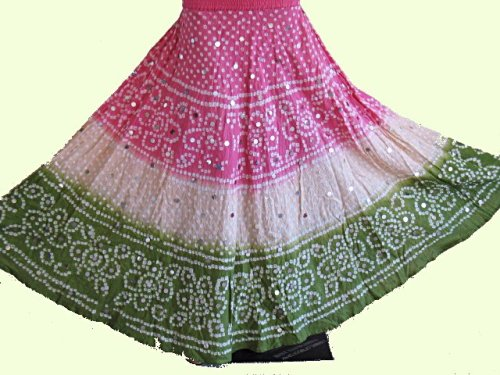 Buy BEADED BANDHANI BANDINI BOHO GYPSY FULL INDIAN SKIRT