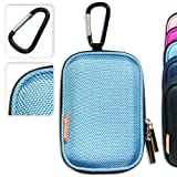 BDC0103eva New first2savvv semi-hard light blue camera case for NIKON COOLPIX S2600