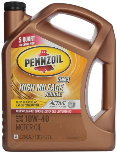 Pennzoil 550038203 High Mileage Vehicle 10W40 Motor Oil (SN) 5qt jug (Oil Motor 10w40 compare prices)