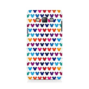 Ebby Mickie Mulitcolor on White Premium Printed Case For Samsung Grand Prime 5308