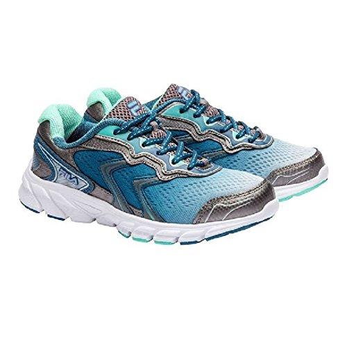 FILA STELLARAY WOMEN'S RUNNING ATHLETIC SHOES (6.5, Silver/Blue)