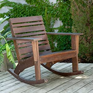 Hudson Rocking Chair Color - Medium Brown from Direct Manufacturing Group Pte Ltd