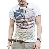 MIOIM Tシャツ メンズ ブランド 半袖 tシャツ シャツ カットソー トップス 男の子 人気 コットン カッコイイ 男性の魅力を見せる一枚