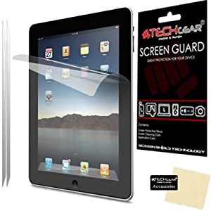 TECHGEAR® **PACK OF 2** - ANTI GLARE / MATTE LCD Screen Protector Guards with cleaning cloth for Apple iPad 4 / 4th GEN / iPad 3 / 3rd GEN / iPad 2 / 2nd GEN