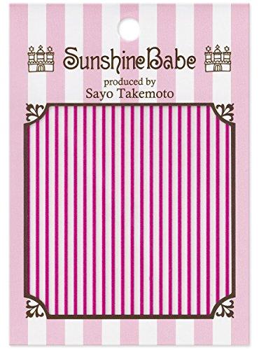SunshineBabe ネイルシール ストライプ ピンク 1mm