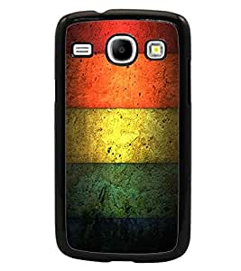 PrintDhaba Coloured Lock Pattern D-2176 Back Case Cover for SAMSUNG GALAXY CORE i8262 (Multi-Coloured)