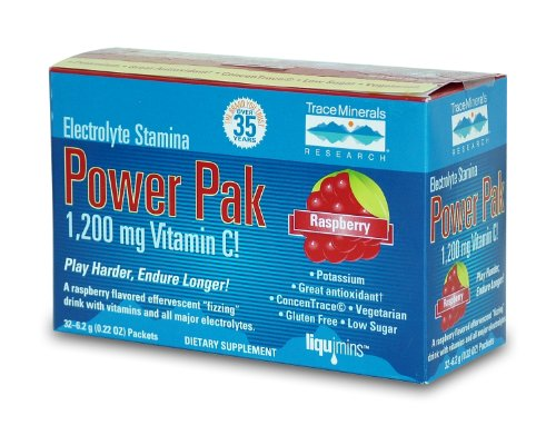 Electrolyte Stamina Power Pak Raspberry Trace Minerals 32 Packet 0.24 OZ
