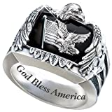 The American Eagle Men's Sterling Silver Ring: Patriotic Jewelry Gift - size 11.5