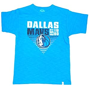 Dallas Mavericks 47 Brand Boys Turquoise Faded Logo Cotton Scrum T-Shirt (S) by