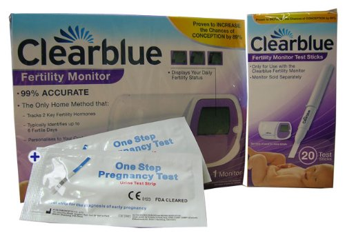 1 x Clearblue Fertility Monitor + 1 x 20 Fertility Monitor Test Sticks + 2 x Ultra Early Pregnancy Test Strips