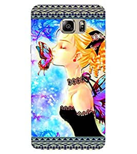 ColourCraft Butterfly Girl Design Back Case Cover for SAMSUNG GALAXY NOTE 7 DUOS