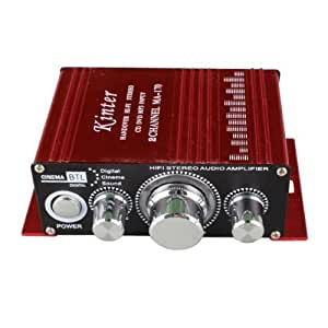 Kinter 12V 2 CH Mini Digital Audio Power Amplifier For MP3 or Car