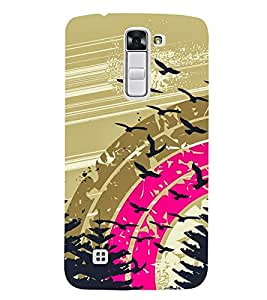 Rainbow Design Cute Fashion 3D Hard Polycarbonate Designer Back Case Cover for LG K7 :: LG K7 Dual SIM :: LG K7 X210 X210DS MS330 :: LG Tribute 5 LS675