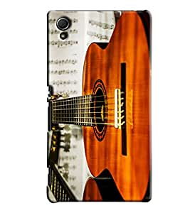 Blue Throat Guitar Printed Designer Back Cover/Case For Sony Xperia Z4