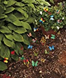 Lawn & Patio - Set of 24 Garden Yard Planter Colorful Whimsical Butterfly Stakes