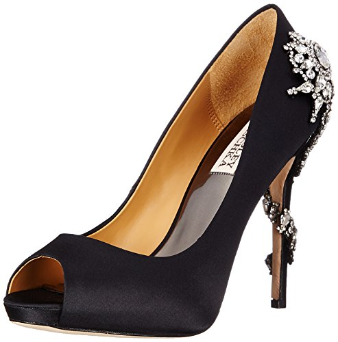 Badgley Mischka Women's Royal Dress Pump, Black, 9 M US