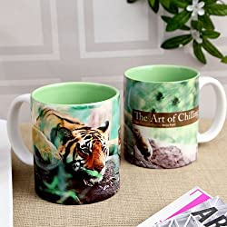 Hot Muggs Wild Focus Art of Chilling Ceramic Mug, 350ml