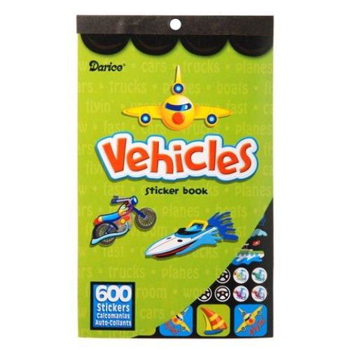 WeGlow International Vehicles Sticker Books, Set of 4