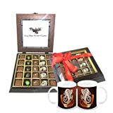 Chocholik Belgium Gifts - Exotic Flavours Of Chocolates With Diwali Special Coffee Mugs - Diwali Gifts