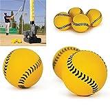 inextstation Bolt Balls Soft Mini Practice Training Baseballs Softballs Yellow - Pack of 12