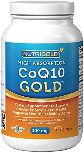 Nutrigold CoQ10 Gold  , 100 mg, 120 softgels
