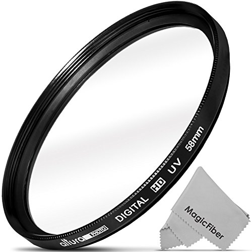 58mm Altura Photo UV Ultraviolet Lens Filter for Canon Rebel T6i T6s T5i T4i T3i T3 T2i T1i XT XTi XSi SL1, EOS 700D 650D 600D 1100D 550D 500D 100D (Camera Uv Filter compare prices)
